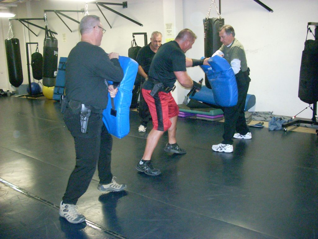 Men training with the OPN unit.