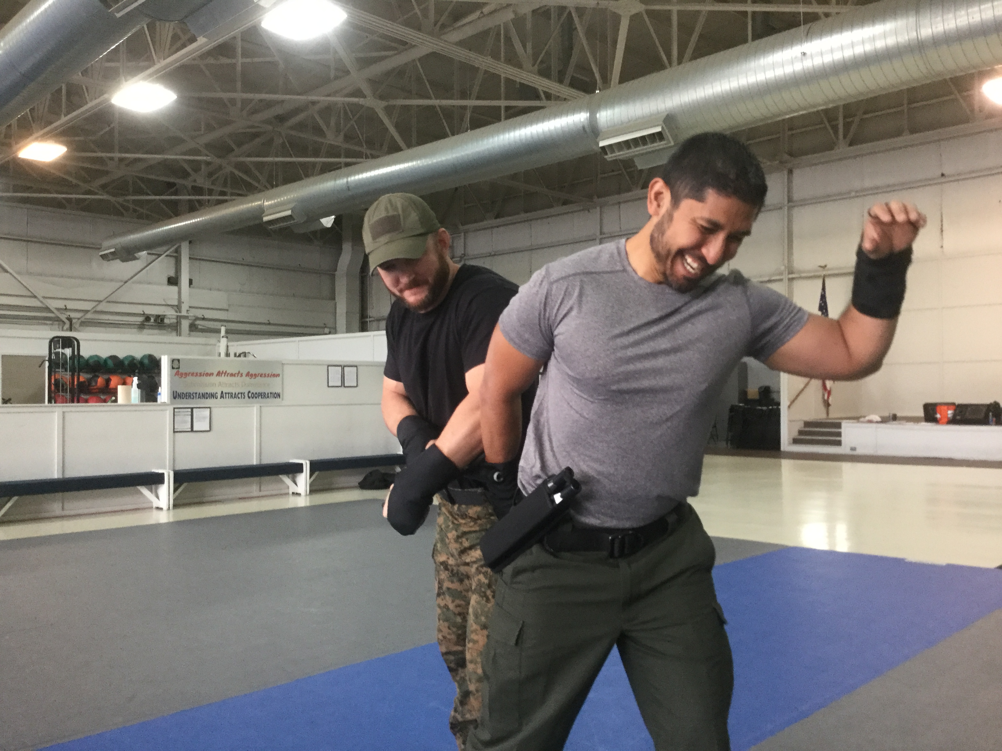 Men training with the OPN.