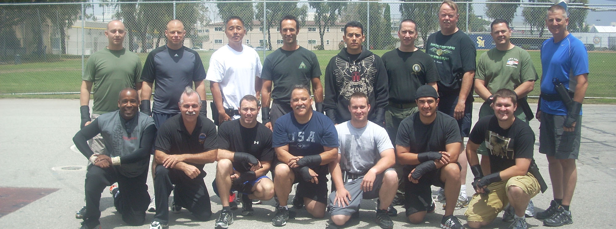Defensive training group.