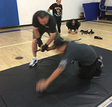 Men training with OPN.